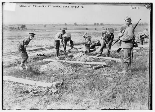 English prisoners at work near Doberitz  (LOC)