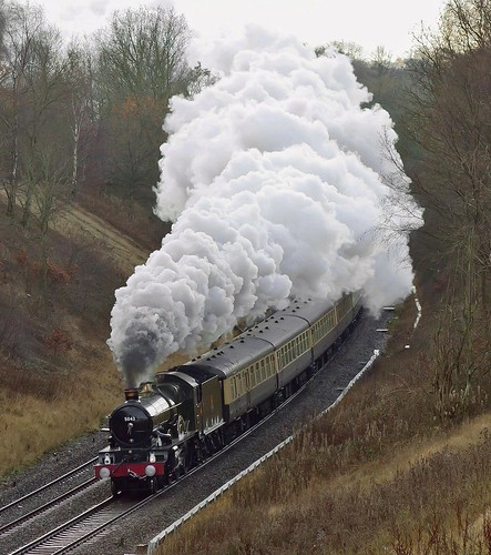 無料写真素材, 乗り物・交通, 電車・列車, 蒸気機関車・SL, 風景  イギリス, 煙・スモーク