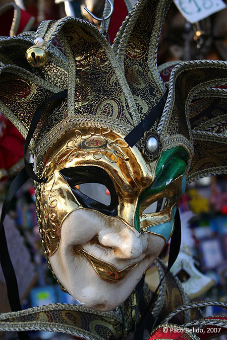 Una máscara veneciana. © Paco Bellido, 2007
