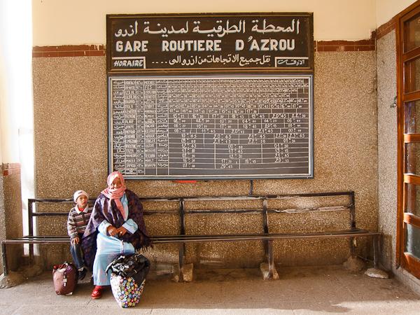 Maroc 2011 - Gare routière d'Azrou