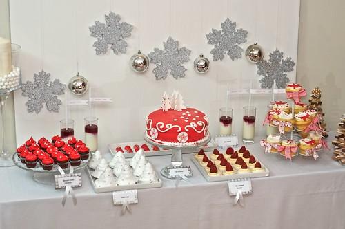 Słodki stół świąteczno-zimowy by CupcakeLovePL