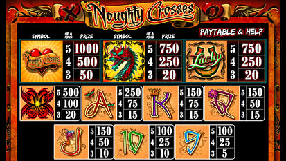 free Noughty Crosses slot mini symbol