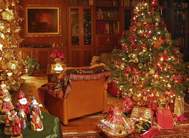 Christmas in a traditional house