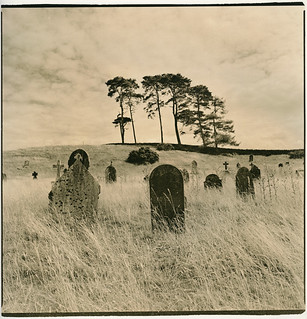 Curragh Graveyard, Co Kildare, Ireland (Lith Print)