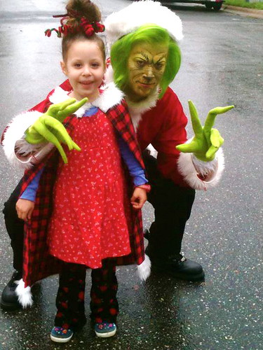Daisy with the Grinch at Whoovillage, Christmas Stroll 2011