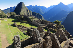 Huayna Picchu and houses of Machu Picchu
