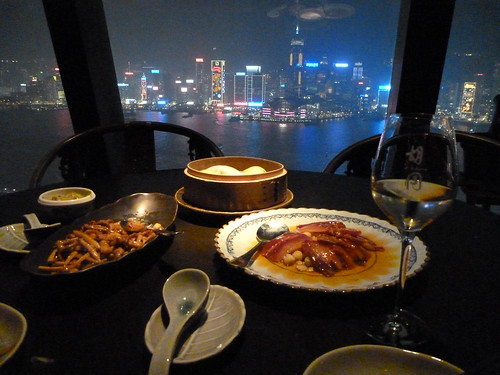 Dinner @ Hutong in Hong Kong