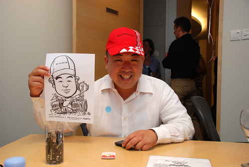 caricature live sketching 2011 Formula 1 RR Donnelley Party - 20