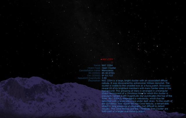 クリスマスツリー星団 NGC 2264