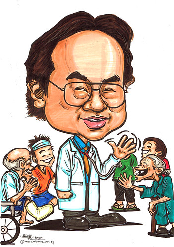 colour caricature for Khoo Teck Puat Hospital - 1
