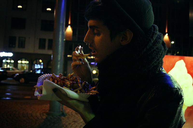 pommes frites på drottningtorget