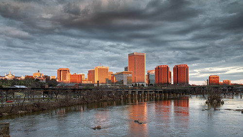 sunset red sun lynch tom buildings river photography james golden virginia nikon day cloudy tripod richmond va hour pixbytommy