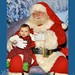 Small photo of Brady with Santa