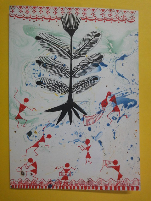 Warli Inspired New year card 3