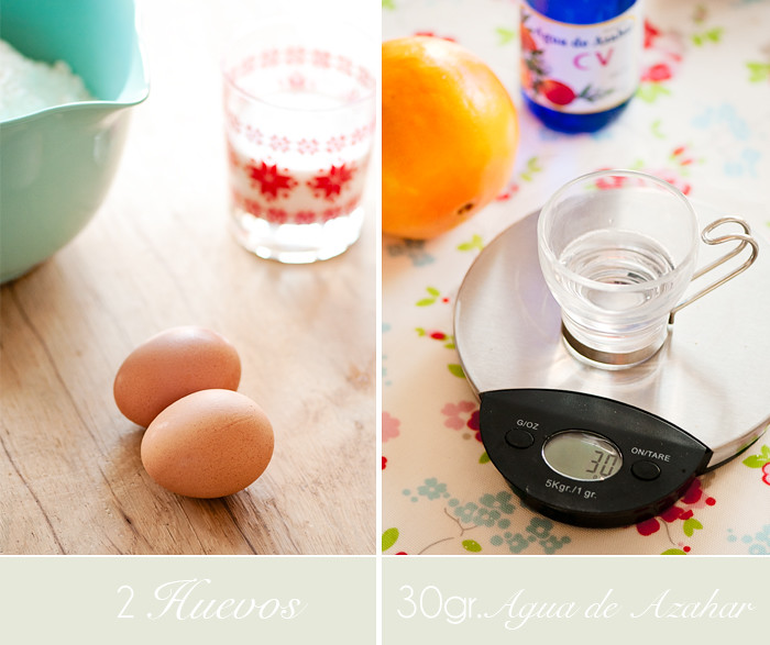 Ingredientes Huevos azahar