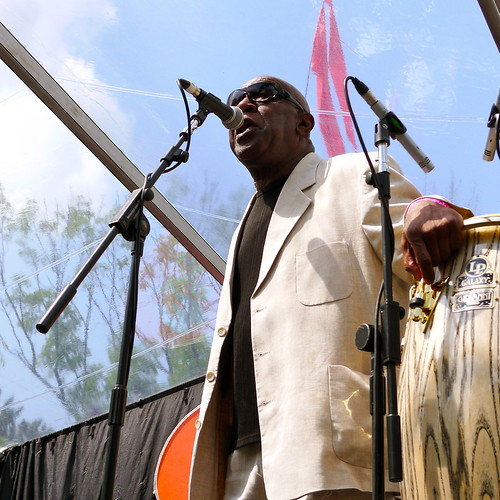 Vic Evans - singing with Andy Hamilton & The Blue Notes at Mostly Jazz 2011