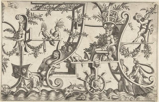 De wagen beweegt voort over water...1550