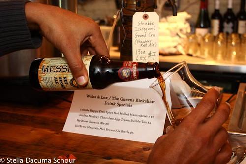 Woks and Lox 12-24-2011 Stella Dacuma Schour - Messiah Nut Brown Ale