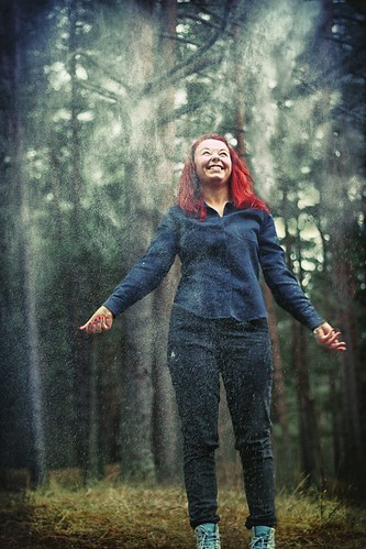 365 days project laine apine happiness smile red hair in the woods white cloud