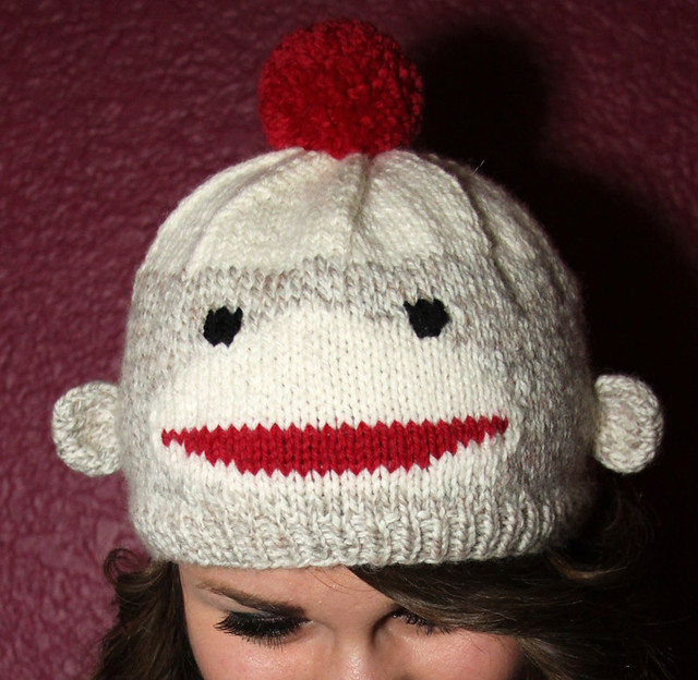 Sock Monkey Hat Knitting Pattern : Hand Knit Sock Monkey Pattern Hat coming soon! Flickr - Photo Sharing!