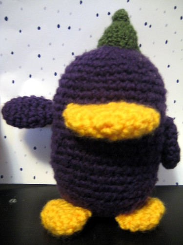 Unfinished Eggplant Bird