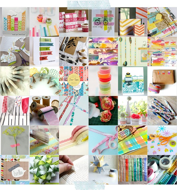Decoracion Washi Tape ~ 100+ Crafty tape ideas round up! {washi or other tape varieties  How