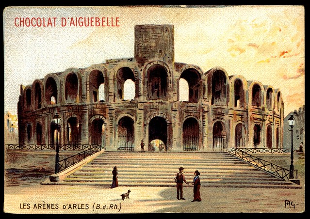 French Tradecard - The Roman Arena, Arles