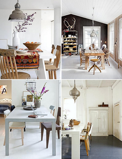 Fresh White Dining Rooms
