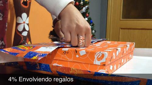 4% Envolviendo regalos