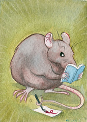 Tiny Paintings: Artsy Rat