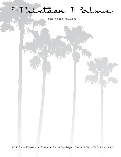 thirteen palms stationary/letterhead