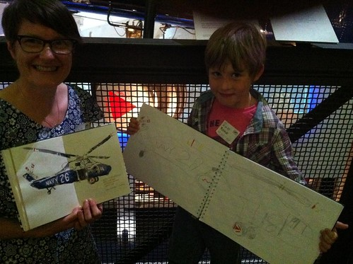 NIck and Liz sketching in Maritime Museum2