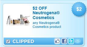 Neutrogena Cosmetics Product Coupon
