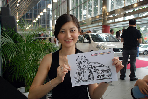 Caricature live sketching for Tan Chong Nissan Almera Soft Launch - Day 1 - 37