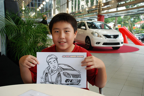 Caricature live sketching for Tan Chong Nissan Almera Soft Launch - Day 1 - 49