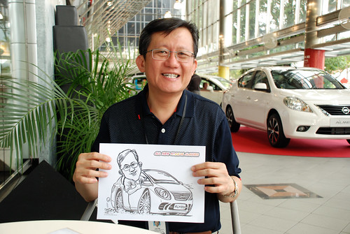 Caricature live sketching for Tan Chong Nissan Almera Soft Launch - Day 2 - 39