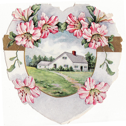house valentine card