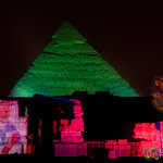 Giza Pyramids at Sound and Light Show - Egypt
