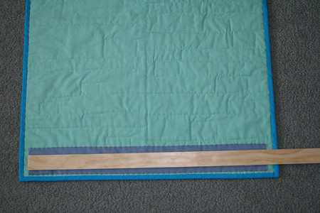 How to Hang a Quilt Tutorial, step 2