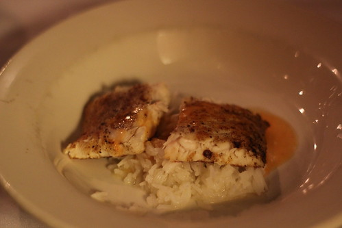 Course 3 - White fish with rice
