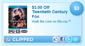 Walk The Line On Blu-ray Coupon