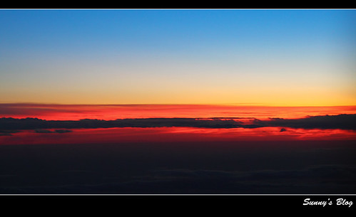 Sunset 30,000 ft above