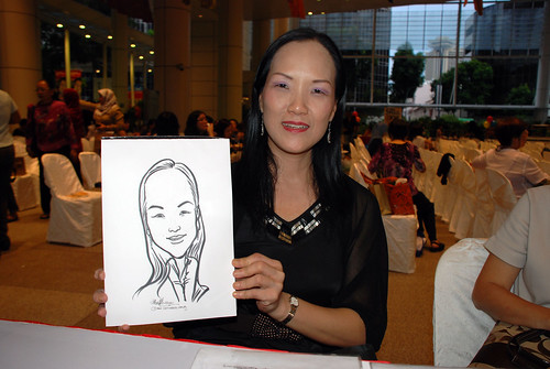 caricature live sketching for kidsREAD Volunteer Appreciation Day 2011 - 6