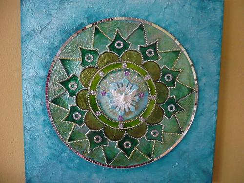 Mandala de vidro, com Divino. by marta.falcao