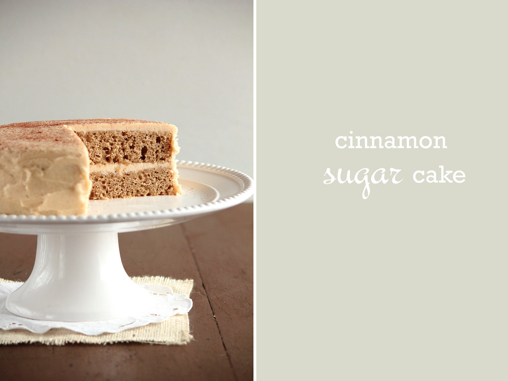 Cinnamon Sugar Cake with Brown Sugar Cinnamon Buttercream