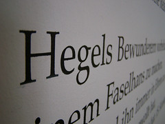 Hegel in German