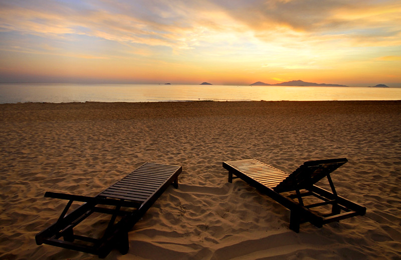 Teak Chairs on the Beaches of Vietnam