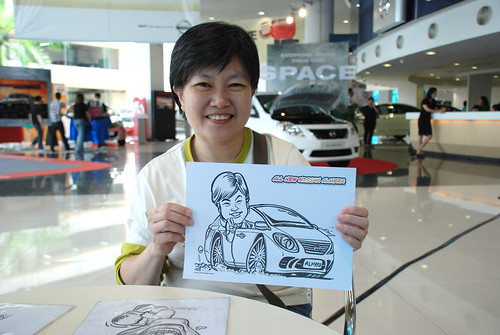 Caricature live sketching for Tan Chong Nissan Motor Almera Soft Launch - Day 3 - 12