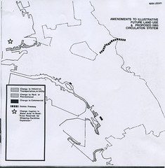 Oakland Amendments to Illustrative Future Land Use & Proposed 1985 Circulation System (1972)
