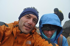 Al coll del Tongariro Crossing (moment de crisi de fred)